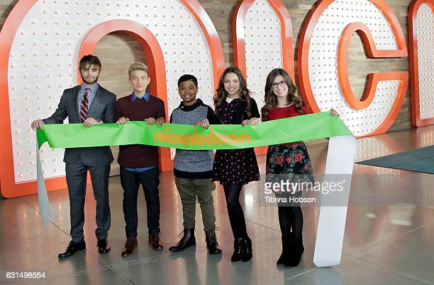 Jack Griffo Thomas Kuc Benjamin Flores Jr Cree Cicchino and Madisyn Shipman attend the ribbon cutting ceremony to celebrate the grand opening of...