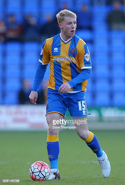 Jack Grimmer of Shrewsbury Town during The Emirates FA Cup Fourth Round tie at New Meadow on January 30 2016 in Shrewsbury England