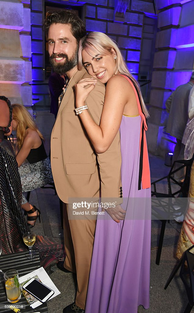 Jack Guinness and Amber Le Bon attend a VIP preview of the Royal Academy of Arts Summer Exhibition 2016 on June 7 2016 in London England