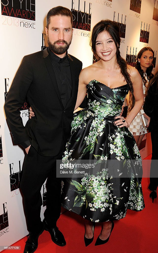 Jack Guinness (L) and Daisy Lowe arrive at the Elle Style Awards at The Savoy Hotel on February 11, 2013 in London, England.