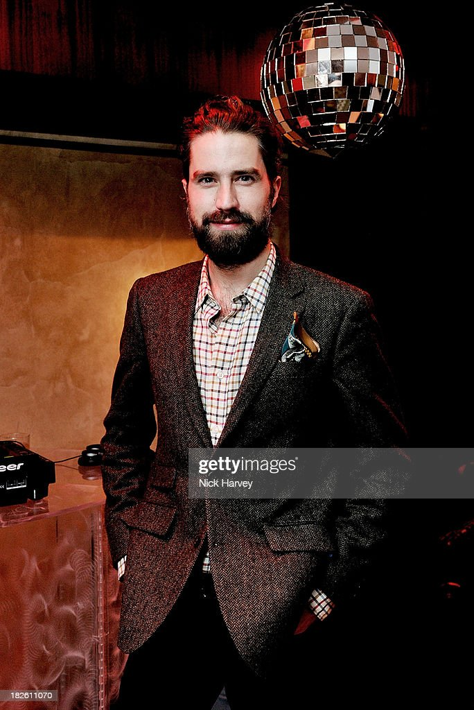 Jack Guinness attends Baku Cellar 164 for an exclusive show by Gavin Turk, in collaboration with A Space for Art and Baku Magazine in support of The House of Fairytales on October 1, 2013 in London, England.