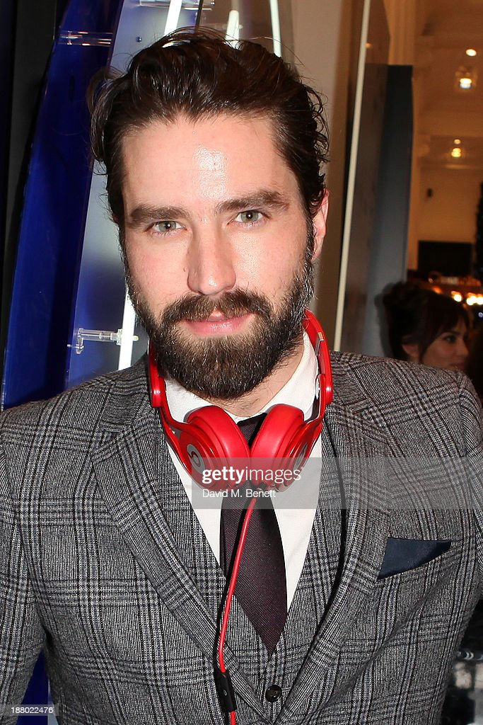 Jack Guinness attends DJ's at the launch of Alexa Chung's new eyeliner and mascara set for Eyeko at Selfridges on November 14, 2013 in London, England.
