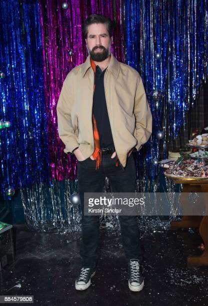 Jack Guinness attends the Burberry x Cara Delevingne Christmas Party on December 2 2017 in London England