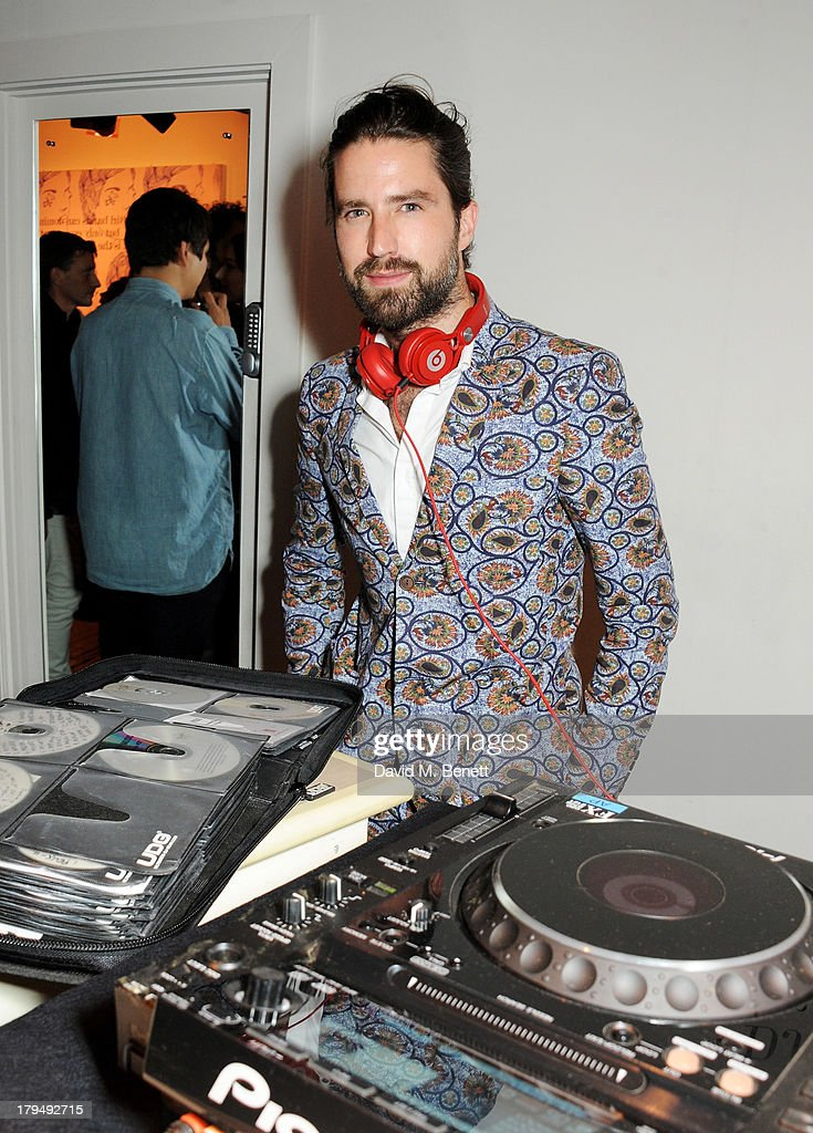 Jack Guinness DJ's at the launch of Alexa Chung's first book 'It' at Liberty on September 4, 2013 in London, England.