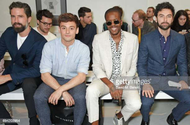 Jack Guinness Tom Daley Vas J Morgan and Aidan Turner attend the Oliver Spencer SS18 Catwalk Show during London Fashion Week Men's June 2017 on June...