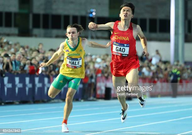 Jack Hale of Australia competes in the Men 100 Metre race during the 2017 Nitro Athletics Series at Lakeside Stadium on February 9 2017 in Melbourne...
