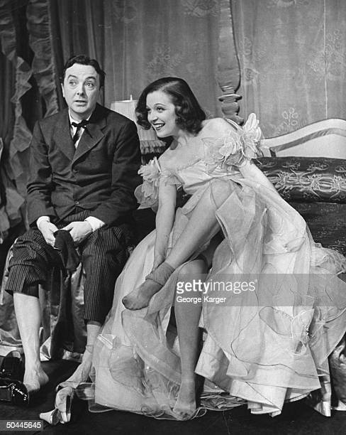 Jack Haley and Marta Eggert performing in production of Higher and Higher