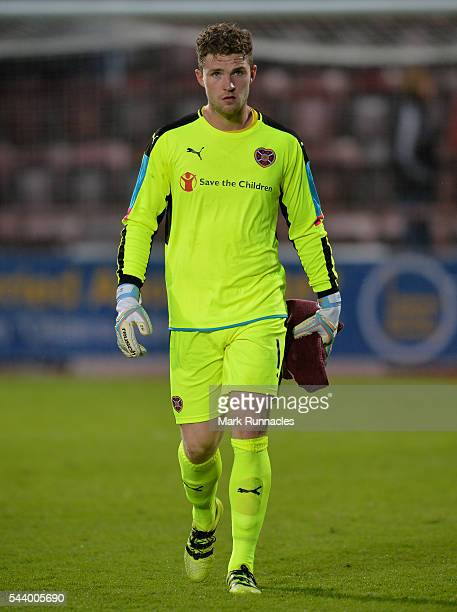 Jack Hamilton of Hearts in action during the UEFA Europa League First Qualifying Round match between Heart of Midlothian FC and FC Infonet Tallinn at...