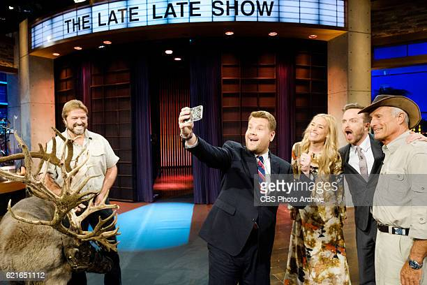 Jack Hanna Piper Perabo and Aaron Paul chat with James Corden during 'The Late Late Show with James Corden' Thursday November 3 2016 On The CBS...