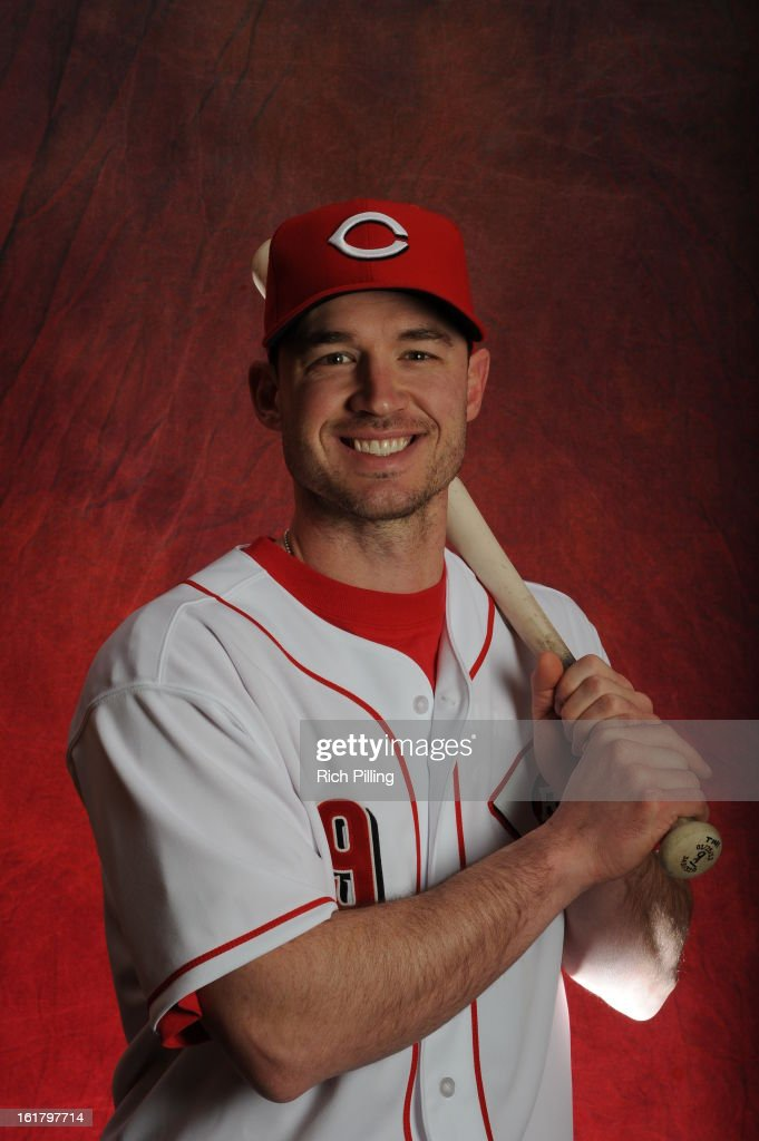 Jack Hannahan #9 of the Cincinnati Reds poses during MLB photo day on February 16, 2013 at the Goodyear Ballpark in Goodyear, Arizona.