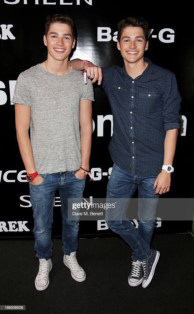 Jack Harries (L) and Finn Harries attend as Casio London celebrate the 1st birthday of their Covent Garden store on May 8, 2013 in London, England.