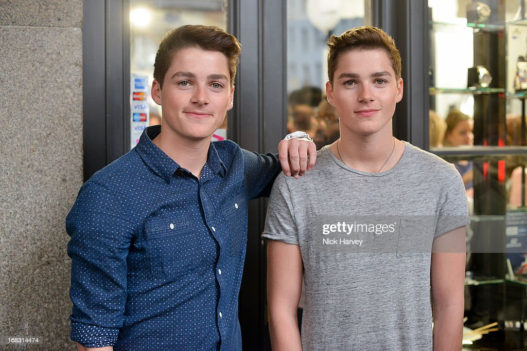 Jack Harries (L) and Finn Harries (R) attend the Casio London Store 1st birthday party on May 8, 2013 in London, England.