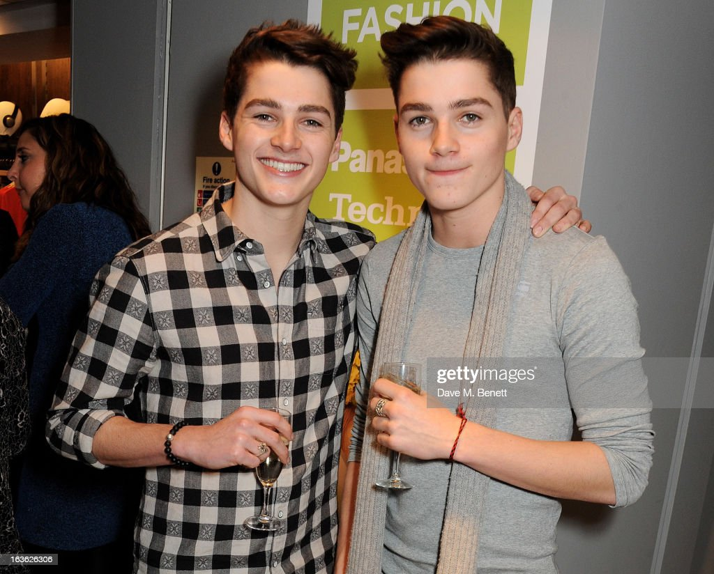 Jack Harries (L) and Finn Harries attend the Panasonic Technics 'Shop To The Beat' Party hosted by George Lamb at French Connection, Oxford Circus, on March 13, 2013 in London, England.