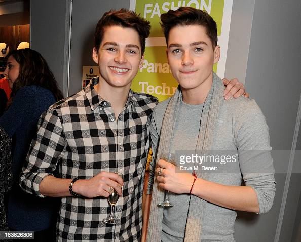 Jack Harries and Finn Harries attend the Panasonic Technics 'Shop To The Beat' Party hosted by George Lamb at French Connection Oxford Circus on...