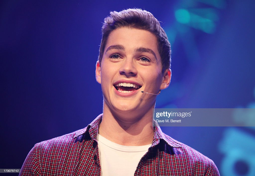 Jack Harries speaks on stage at vInspired Live, a youth social change event, at The Roundhouse on July 6, 2013 in London, England.