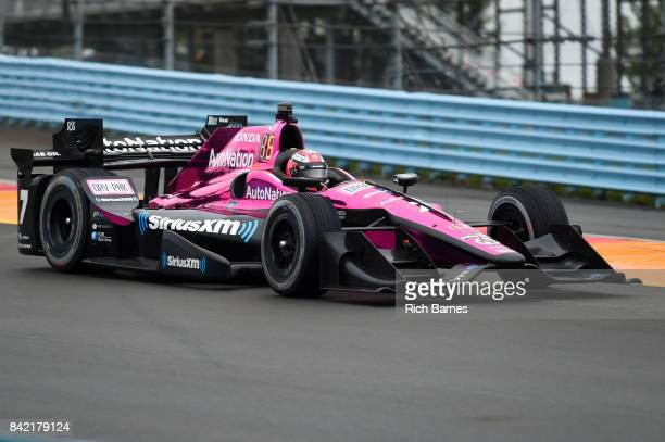 Jack Harvey driver of the Autonation Schmidt Peterson Motorsports Honda during practice for the INDYCAR Grand Prix at The Glen at Watkins Glen...