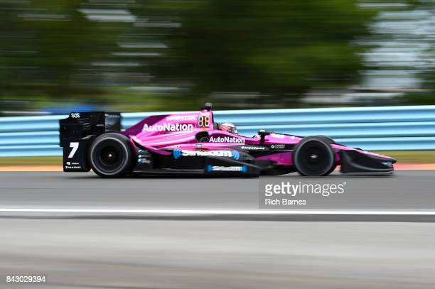 Jack Harvey of England driver of the Autonation Schmidt Peterson Motorsports Honda during the INDYCAR Grand Prix at The Glen at Watkins Glen...
