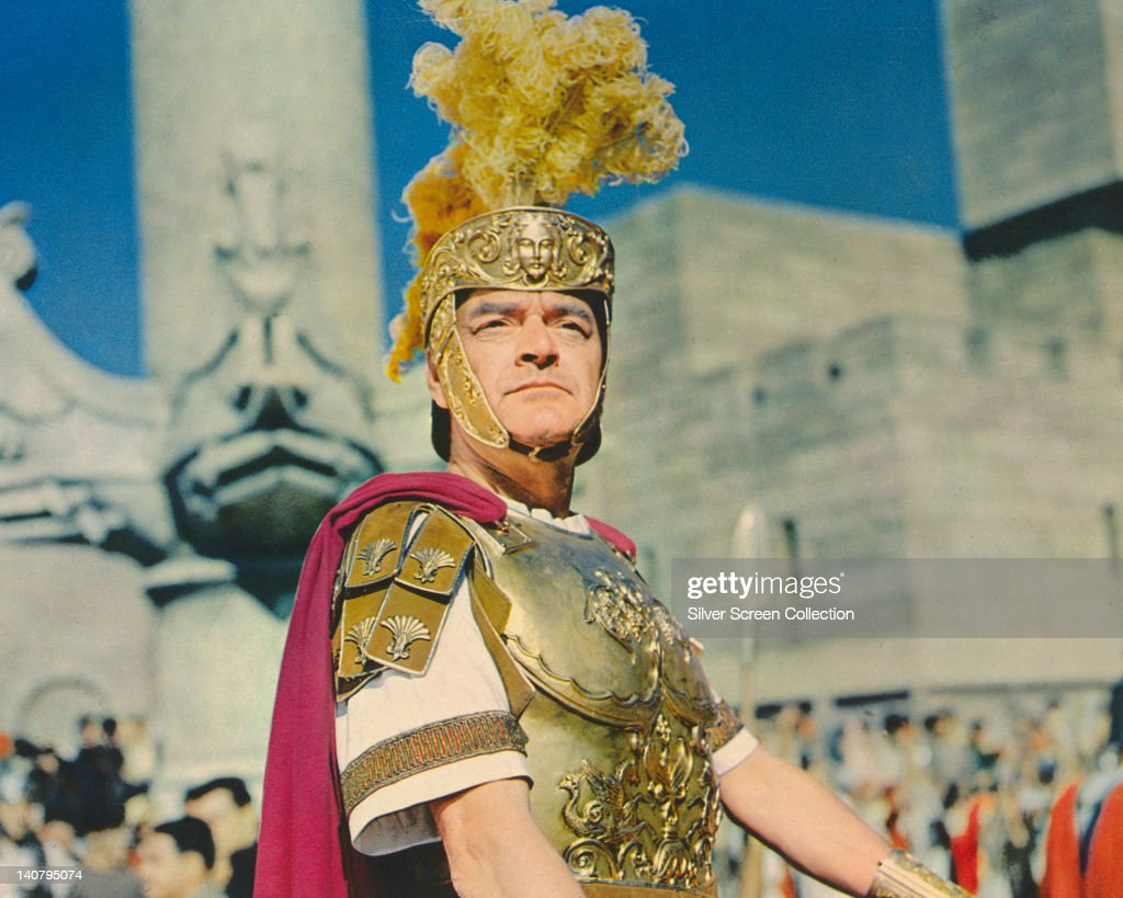 Jack Hawkins (1910-1973), British actor, in costume in a publicity still issued for the film, 'Ben-Hur', 1959. The historical drama, directed by William Wyler (1902-1981), starred Hawkins as Roman officer, 'Quintus Arrius'.