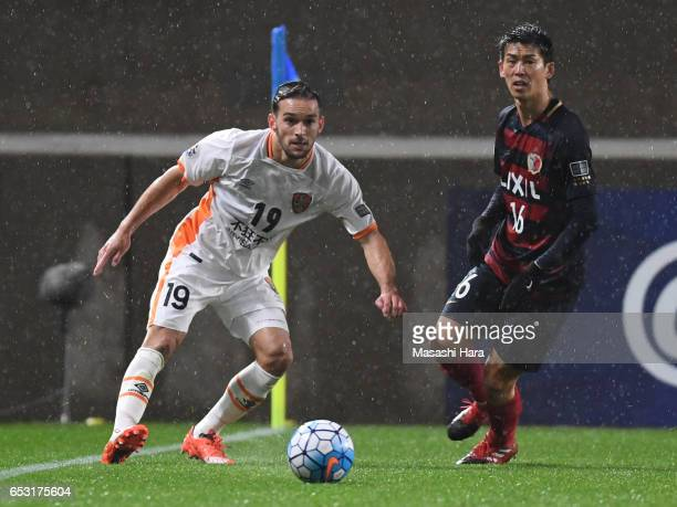 Jack Hingert of Brisbane in action during the AFC Champions League Group E match between Kashima Antlers and Brisbane Roar FC at Kashima Stadium on...