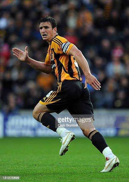 Jack Hobbs of Hull City in action during the npower Championship match between Hull City and West Ham United at KC Stadium on November 5 2011 in Hull...
