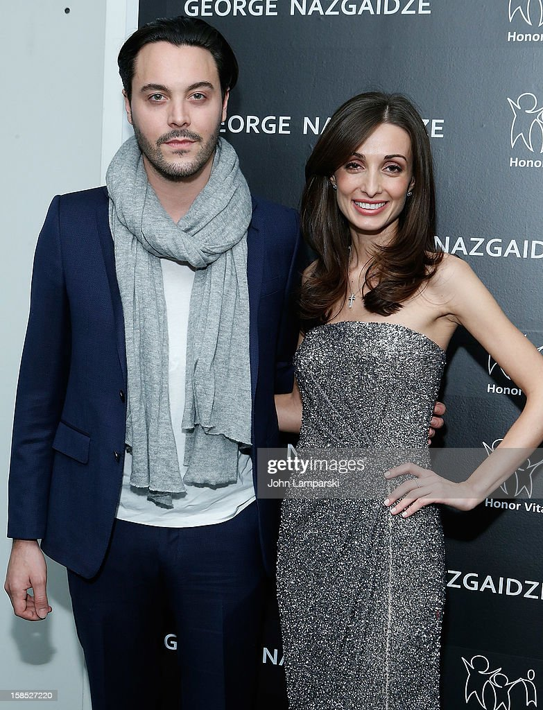Jack Huston and Mariam Kinkiadze attend Charity Meets Fashion Holiday Celebration Honoring The World's Children at Affirmation Arts on December 17, 2012 in New York City.