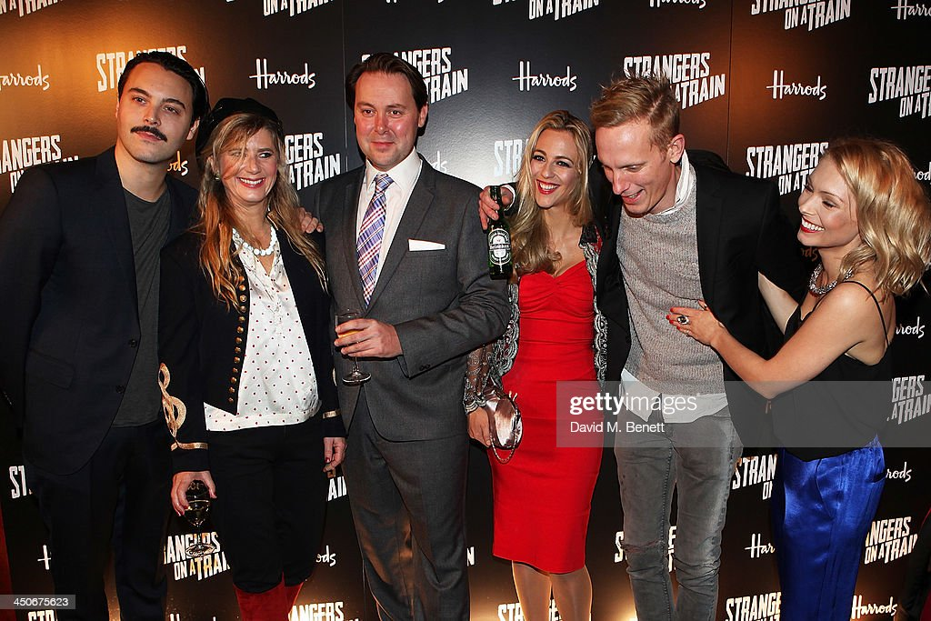 Jack Huston, Imogen Stubbs, Christian McKay, Miranda Raison, Laurence Fox and Myanna Buring attend an after party following the press night performance of 'Strangers On A Train' at the Cafe de Paris on November 19, 2013 in London, England.