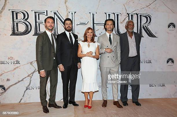 Jack Huston Toby Kebbell Roma Downey Rodrigo Santoro and Morgan Freeman attends the Mexico Premiere of the Paramount Pictures 'BenHur' at...