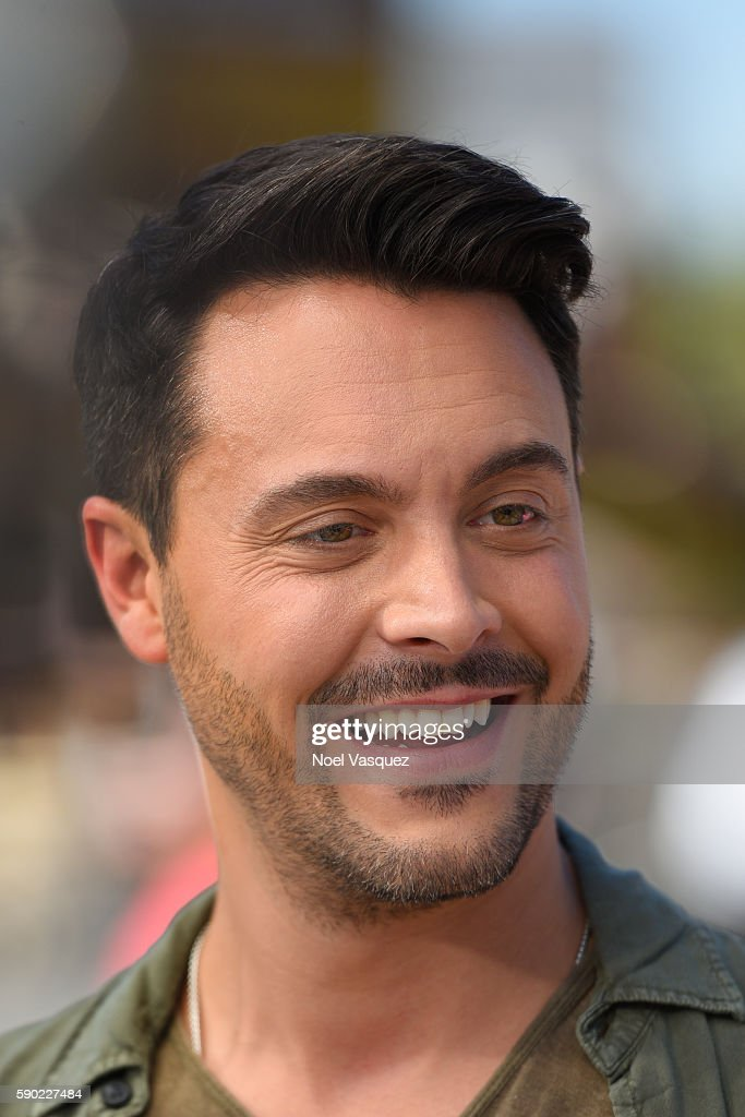 Jack Huston visits 'Extra' at Universal Studios Hollywood on August 16 2016 in Universal City California