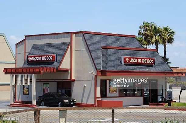 Jack in the Box HamburgerFastFoodKette mit mehr als 2000 Schnellrestaurants Systemgastronomie Fast Food Filiale in Huntington Beach