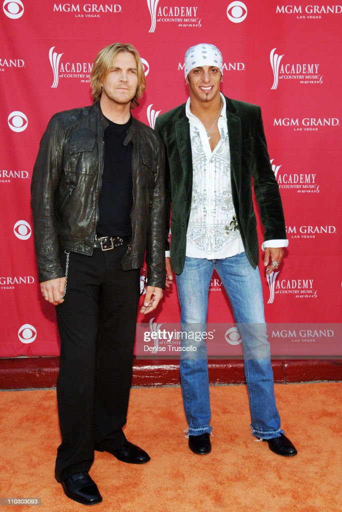 Jack Ingram and Trent Tomlinson during 42nd Academy of Country Music Awards Red Carpet at The MGM Grand Hotel and Casino Resort in Las Vegas Nevada