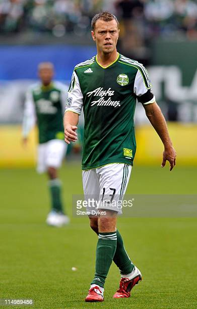 Jack Jewsbury of the Portland Timbers gets set for a throw in during the first half of the game at PGE Park on May 292011 in Portland Oregon DC...