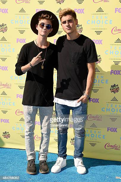 Jack Johnson and Jack Gilinsky of Jack and Jack attend the Teen Choice Awards 2015 at the USC Galen Center on August 16 2015 in Los Angeles California