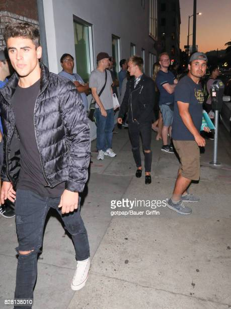 Jack Johnson and Jack Gilinsky of 'Jack Jack' are seen on August 08 2017 in Los Angeles California