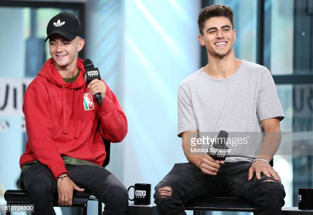 Jack Johnson and Jack Gilinsky of Jack Jack discuss their new EP 'Gone' at Build Studio on July 11 2017 in New York City