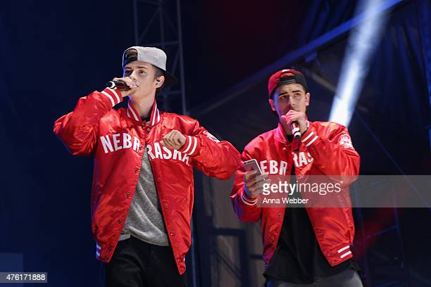 Jack Johnson and Jack Gilinsky of Jack Jack perform during DigiFest NYC 2015 at Citi Field on June 6 2015 in New York City