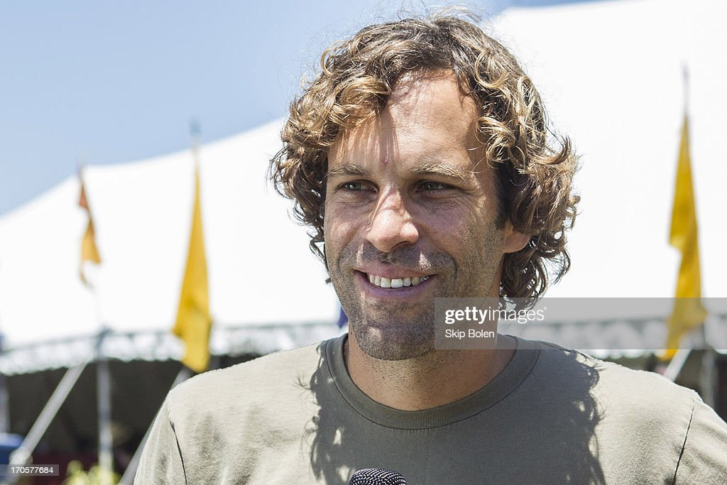 Jack Johnson backstage during the 2013 Bonnaroo Music & Arts Festival on June 14, 2013 in Manchester, Tennessee.