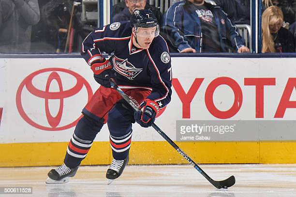 Jack Johnson of the Columbus Blue Jackets skates against the Los Angeles Kings on December 8 2015 at Nationwide Arena in Columbus Ohio