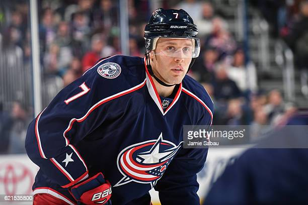 Jack Johnson of the Columbus Blue Jackets skates against the Montreal Canadiens on November 4 2016 at Nationwide Arena in Columbus Ohio Columbus shut...