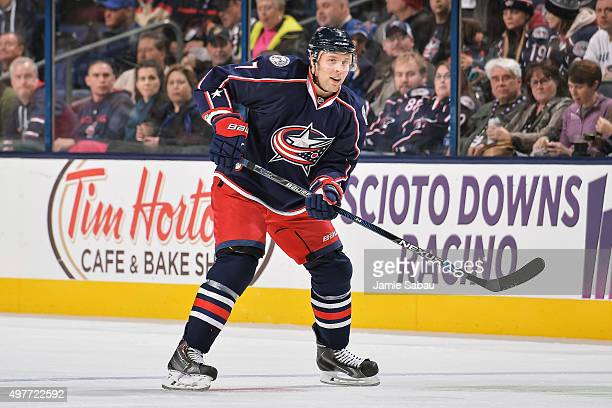 Jack Johnson of the Columbus Blue Jackets skates against the St Louis Blues on November 17 2015 at Nationwide Arena in Columbus Ohio