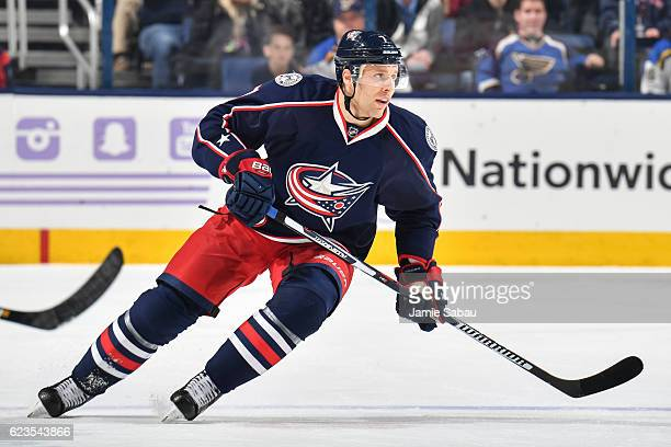 Jack Johnson of the Columbus Blue Jackets skates against the St Louis Blues on November 12 2016 at Nationwide Arena in Columbus Ohio Columbus...