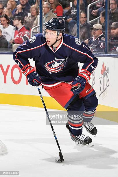 Jack Johnson of the Columbus Blue Jackets skates against the Toronto Maple Leafs on October 16 2015 at Nationwide Arena in Columbus Ohio