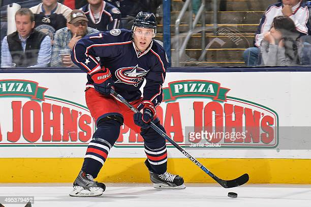 Jack Johnson of the Columbus Blue Jackets skates against the Winnipeg Jets on October 31 2015 at Nationwide Arena in Columbus Ohio