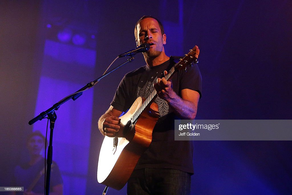 Jack Johnson performs at Orpheum Theatre on October 19, 2013 in Los Angeles, California.
