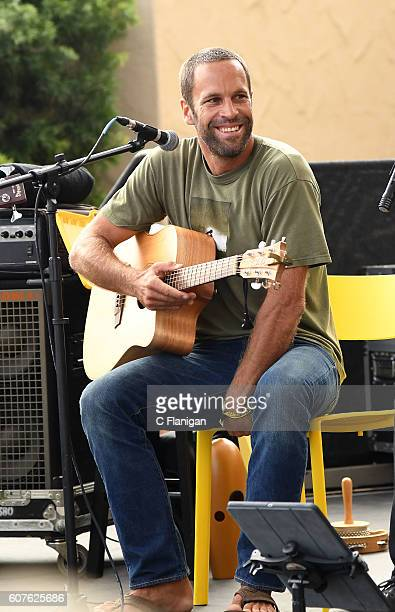 Jack Johnson performs on the Tourmaline Stage during the 2016 KAABOO Del Mar at the Del Mar Racetrack on September 18 2016 in Del Mar California