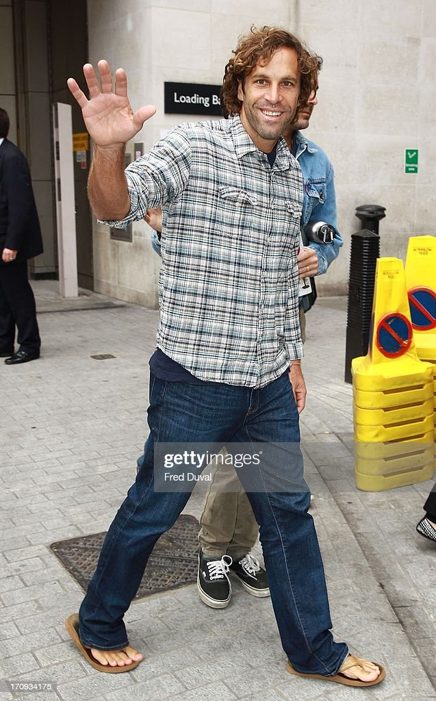 Jack Johnson sighting outside BBC Radio One on June 20, 2013 in London, England.