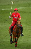 Jack Kidd in action during Polo In The Park Finals at The Hurlingham Club on June 6 2009 in London England
