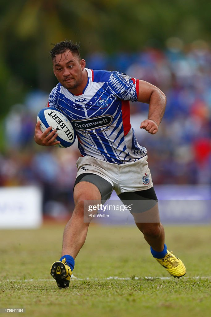 Jack Lam of Manu Samoa during the International Test match between Samoa and the New Zealand All Blacks at Apia Stadium on July 8 2015 in Apia Samoa
