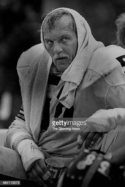 Jack Lambert of the Pittsburgh Steelers looks on circa 1970s