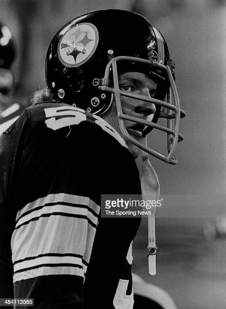 Jack Lambert of the Pittsburgh Steelers looks on circa 1970s