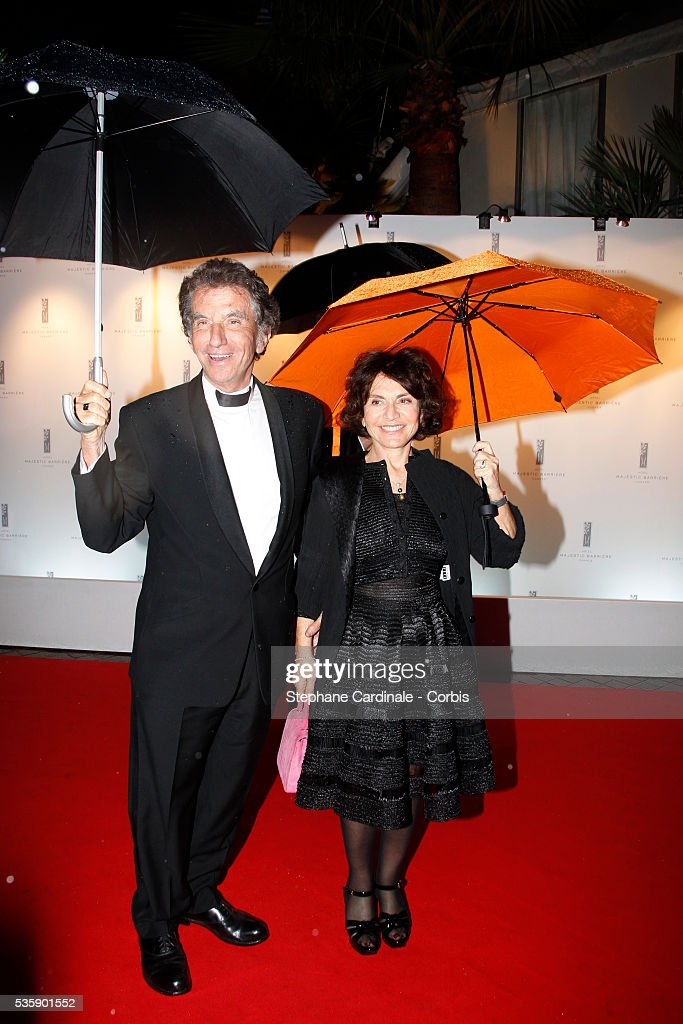 Jack Lang and his wife at the Opening Dinner during the 63rd Cannes International Film Festival.